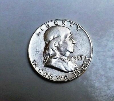United States 1957D Silver Half Dollar Very Nice Condition