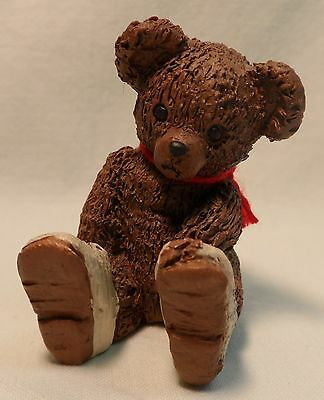 "ALL GODS CHILDREN ""PEEK-A-BOO"" BEAR MARTHA HOLCOMBE 1993 GIFT FIGURINE  1jd"