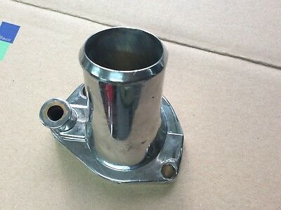 Small block Ford V8 chrome thermostat housing