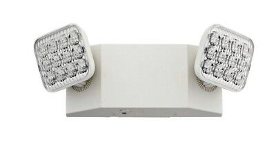 Lithonia Lighting 2-Light Plastic White LED Emergency Fixture Unit