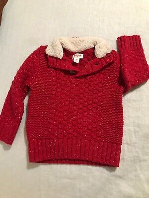 Boys Cat And Jack Sweater Red 18 Months White Flecks
