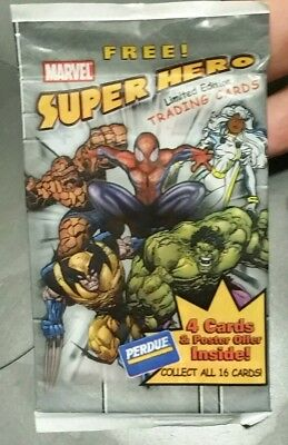 Perdue Marvel Super Hero Limited Edition Trading Cards 2002 Sealed