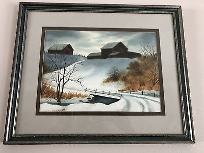 Watercolor Signed By Ruth F Homan
