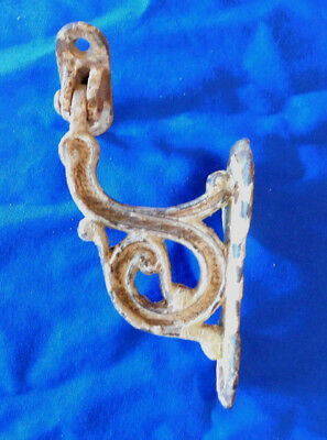 Unique Antique Ornate Cast Iron Stair Railing Bracket With Moveable Hinge