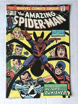 AMAZING SPIDER-MAN #135 UNREAD 2nd Appearance The Punisher Marvel Vintage