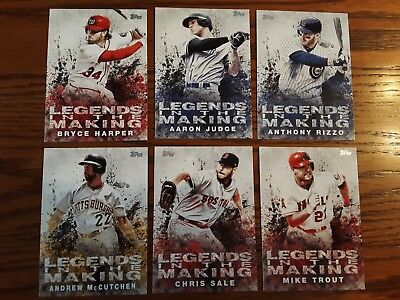 2018 Topps LEGENDS IN THE MAKING 30 card set Harper Judge Rizzo Trout Betts