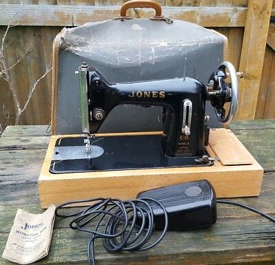 Vintage Sewing Machine - Jones Model B - Collectable Retro Equipment