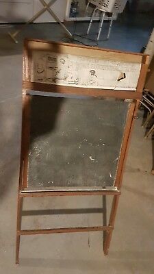 Antique Litho Plate Richmond School Furniture Co Oak Easel Chalkboard A Frame