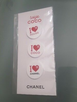 3 Broches Aimant Rouge Coco I Love  Chanel Neuf