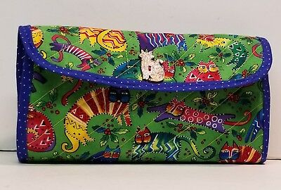 Coupon Organizer Laurel Burch Cat Fabric Enchantment With Wood Cat Button