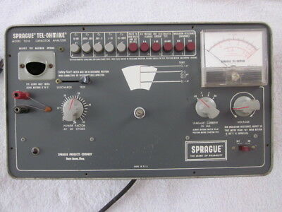 Sprague TEL-OHMIKE Model TO-6 Capacitor Analyzer