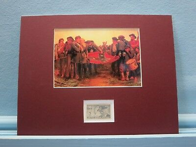 """""""The Furling the Flag"""" - the Surrender of the Confederacy & UCV stamp"""