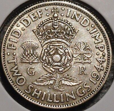 British Florin - 1944 - King George VI - $1 Unlimited Shipping