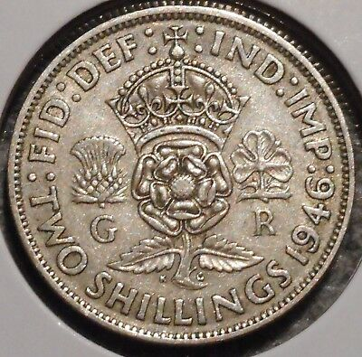 British Florin - 1946 - King George VI - $1 Unlimited Shipping