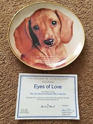Eyes Of Love, Cherished Dachshunds  Collectors Plate