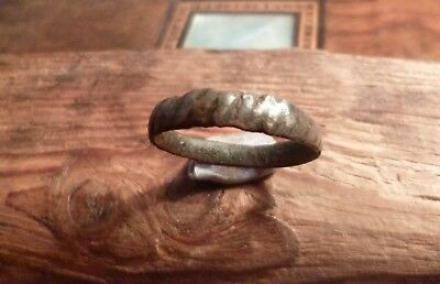 Early Medieval Anglo Saxon or Viking Norse Decorated Ring-Metal Detecting Find