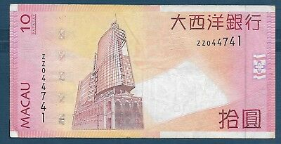 Macau 10 Patacas, 2005, Replacement ZZ, VF