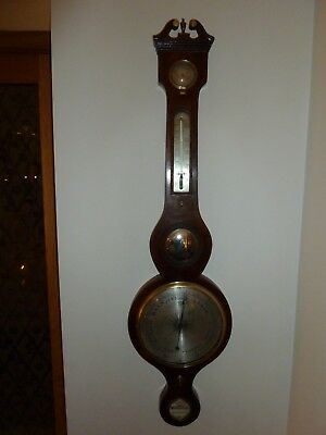 Antique late Georgian early Victorian 5 Dial Wheel Barometer,fully refurbished.