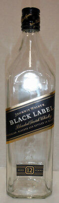 EMPTY JOHNNIE WALKER BLACK LABEL Blended Scotch Whisky Bottle 1000ml 1 litre