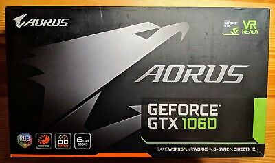 GIGABYTE AORUS NVIDIA GeForce GTX 1060 Windforce 6GB REV 2.0 GDDR5