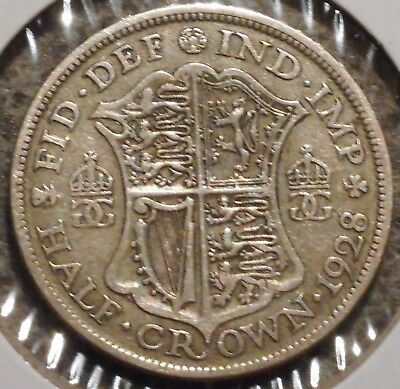 British Silver Half Crown - 1928 - King George V - $1 Unlimited Shipping