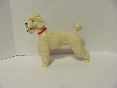 Breyer #68 Vintage White Poodle with red collar