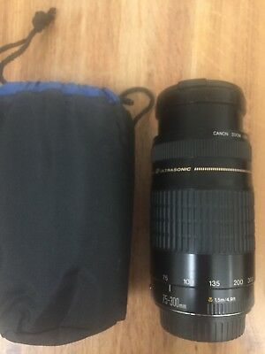 Canon EF 75-300mm III Ultrasonic (USM)  F4-5.6 Autofocus Telephotos Zoom Lens.