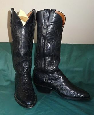 e376d6b668b LUCCHESE 1883 BLACK Calf Skin Leather Snip Toe Cowgirl Boots Women's ...
