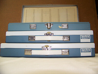 Smith Victor 35mm Metal Slide Case (Lot of 3) Storage Container Tray 150 Slots
