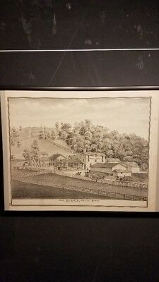 CHAS SCHWARTZ SPRING HILL BREWERY Print - Titusville, PA - 1876