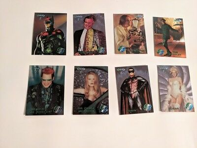 1995 Batman Forever Metal Movie Preview Inserts Full Set 1-8
