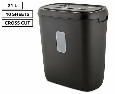 LENOXX Electric Home Office 21L Cross Cut Shredder 10 A4 Paper Sheet