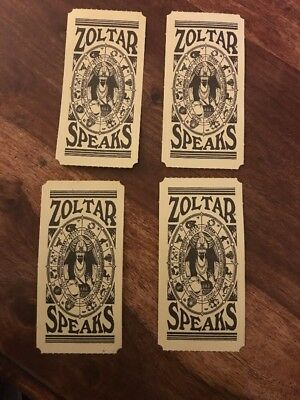 4x Zoltar Speaks Fortune Cards as seen in Big. Great Prop Set