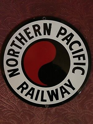 Northern Pacific Railway Porcelain Sign