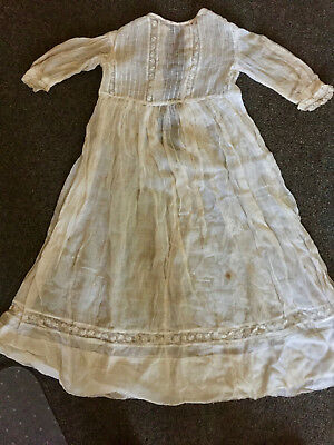 Antique Lace and Linen Baby Gown - Great for Doll Clothing
