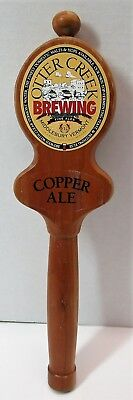 Vintage Otter Creek Brewing Middlebury Vt Wooden Beer Tap Handle Pull Knob