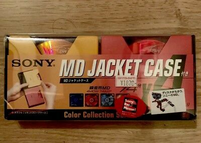 Minidisc Md Minidisk Sony Jacket Case Color Collection Japan New Rare Collectors