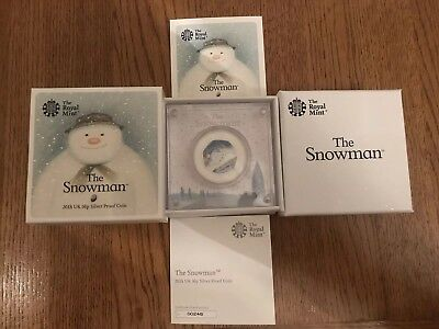 THE ROYAL MINT 2018 UK 50p SILVER PROOF COIN 'THE SNOWMAN' VERY LOW COA - 00248