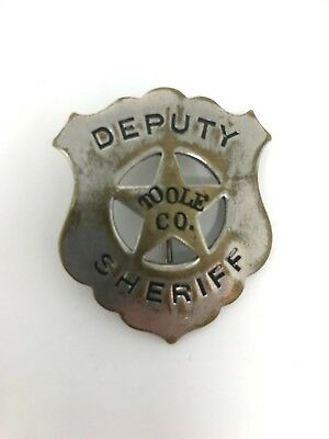 Vintage 1890's Sheriff Badge - Toole County
