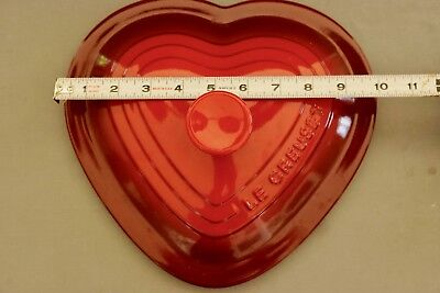 Le Creuset - Cherry Red Cerise Heart Shaped Large 2-1/2 Qt Lid