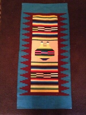 Native American wool wall hanging vintage