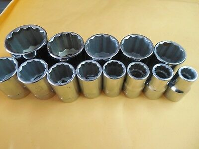 "Vintage Craftsman 1/2"" Drive all G Series 13pc 12pt Socket Set, 7/16"" to 1-1/4"""