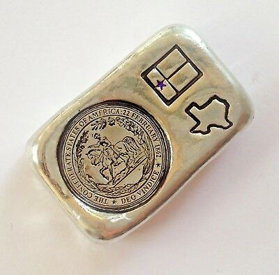 50g hand poured bar 999 Tin confederate rebel mabe by me national flag Texas