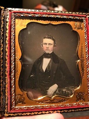 6th Plate Daguerreotype IDd Alfred Lancaster Still sealed died 24 years