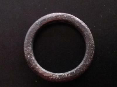 22.5mm Genuine Ancient CELTIC Bronze Ring Money ~600 BC #10