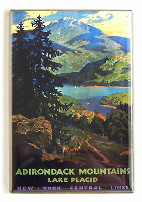 Adirondack Mountains FRIDGE MAGNET (2 x 3 inches) travel poster