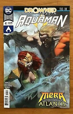 """Aquaman 41 2018 Cover A Riccardo Federici Cover """"Drowned Earth Tie-In"""" DC NM+"""