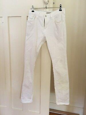 "Scotch And Soda Scotch Shrunk Boys White ""Strummer"" Jeans Size 14"
