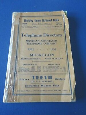 1932 Muskegon Telephone Directory, Heights, & North, Michigan