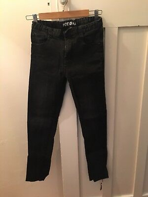 Indie Boys Kids Washed Black Denim Jeans with Elastic SIZE 12 WAS $89
